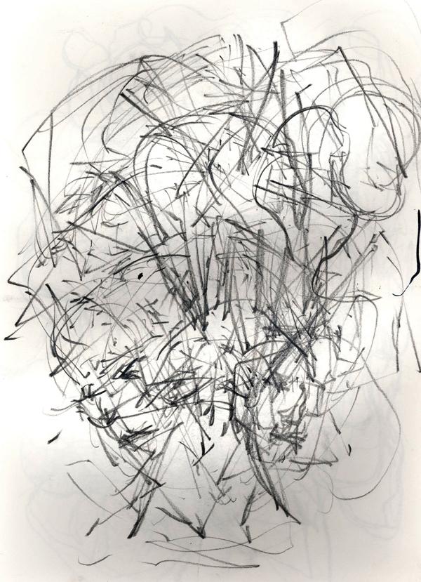Apollo, pencil on paper, A4