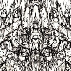 Buddhist Meditation, pencil on paper digitally edited, A4