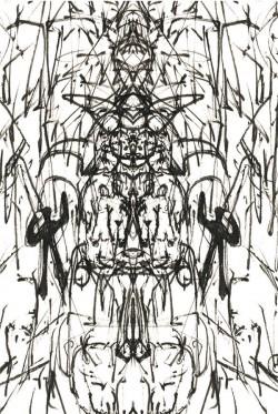 Hindu Dance, pencil on paper digitally edited, A4