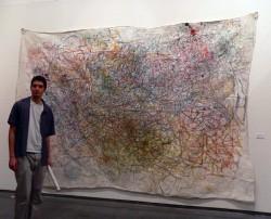 Humour Paradox Change: Einstein's Dream, oil paint on cotton, 6x9ft