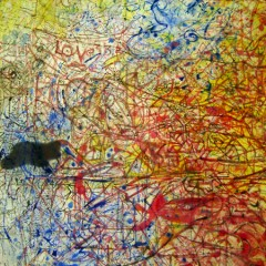 Humour Paradox Change: Love, oil paint on canvas, 9x6ft (detail 2)