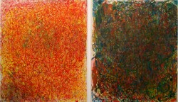 Humour Paradox Change: 1 & Humour Paradox Change: Red 1, oil paint on canvas, 6x7ft