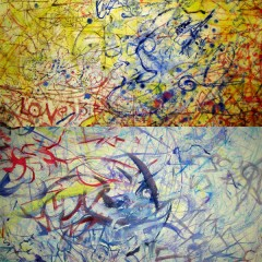Humour Paradox Change: Love & Humour Paradox Change: Brighton, oil paint on canvas 6x9ft & 240x300cm (details)