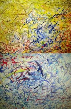 Humour Paradox Change: Love & Humour Paradox Change: Brighton, oil paint on canvas 6x9ft & 240x300cm (details)