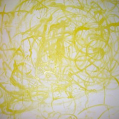 Instantaneous Enlightenment: Yellow, oil paint on canvas 2x2m