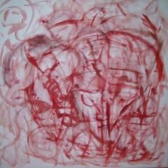 Familiar Stranger, oil paint on canvas, 3x3ft