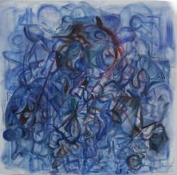 Sub Dance, oil paint on canvas, 50x50cm